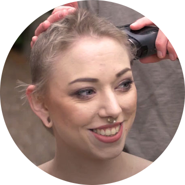 Girl shaving her hair