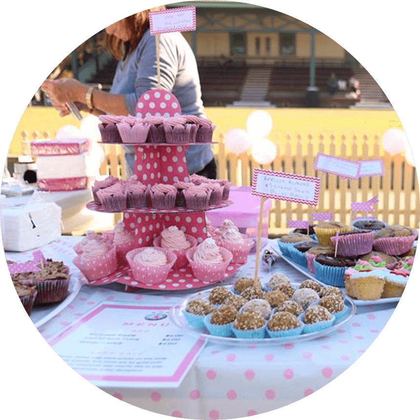 Pink bake off